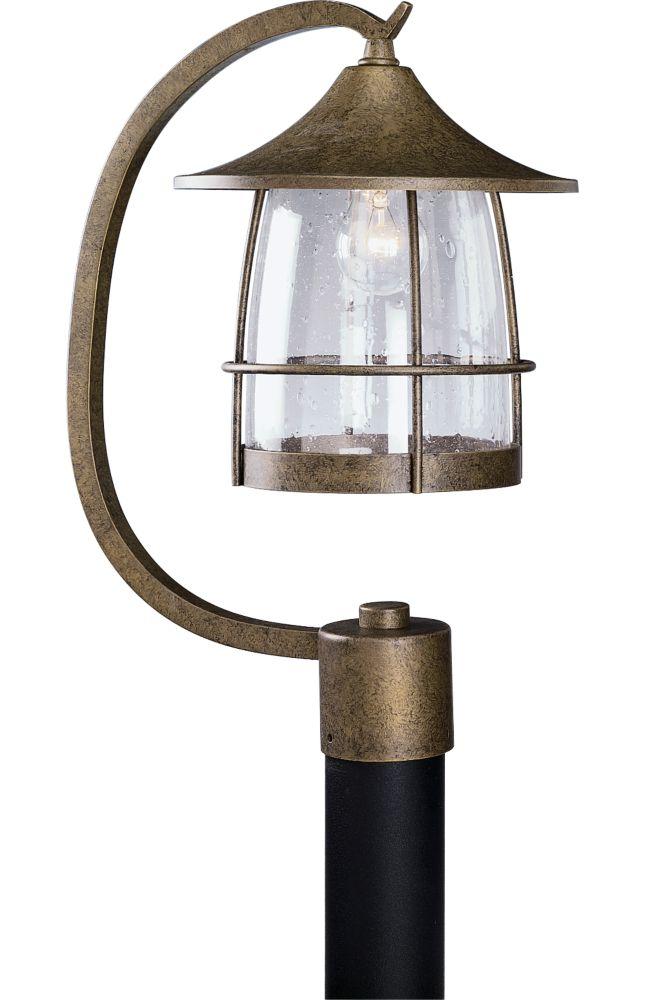 Prairie Collection Burnished Chestnut 1-Light Post Lantern
