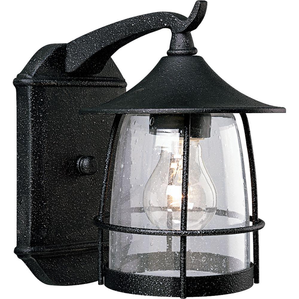 Prairie Collection Gilded Iron 1-light Wall Lantern