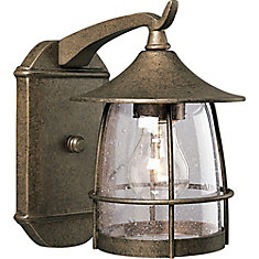 Prairie Collection Burnished Chestnut 1 Light Wall Lantern