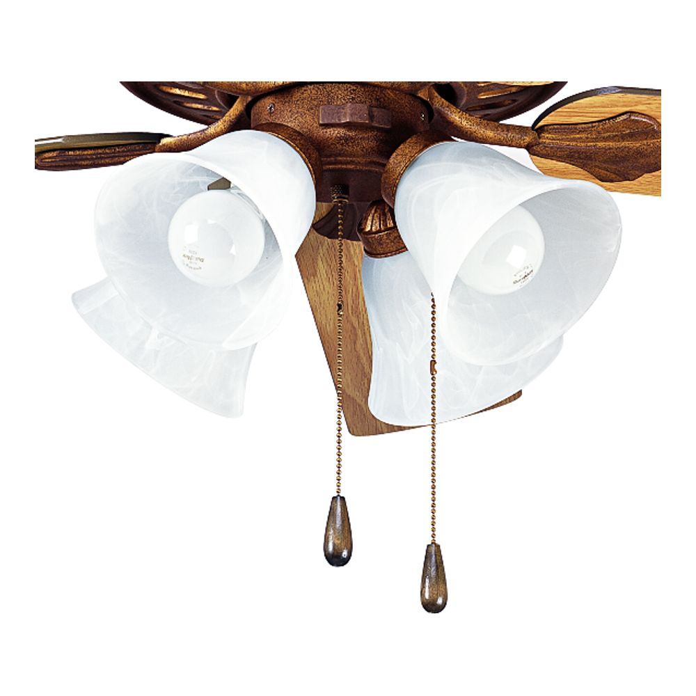 Luminaire de ventilateur de plafond à 4 Lumières, Collection AirPro - fini Ombre d'or