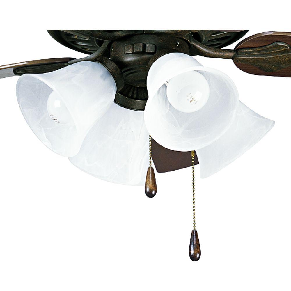 Luminaire de ventilateur de plafond à 4 Lumières, Collection AirPro - fini Bronze Patiné