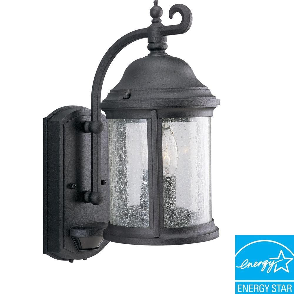 Progress Lighting Ashmore Collection Textured Black 2-light Wall Lantern
