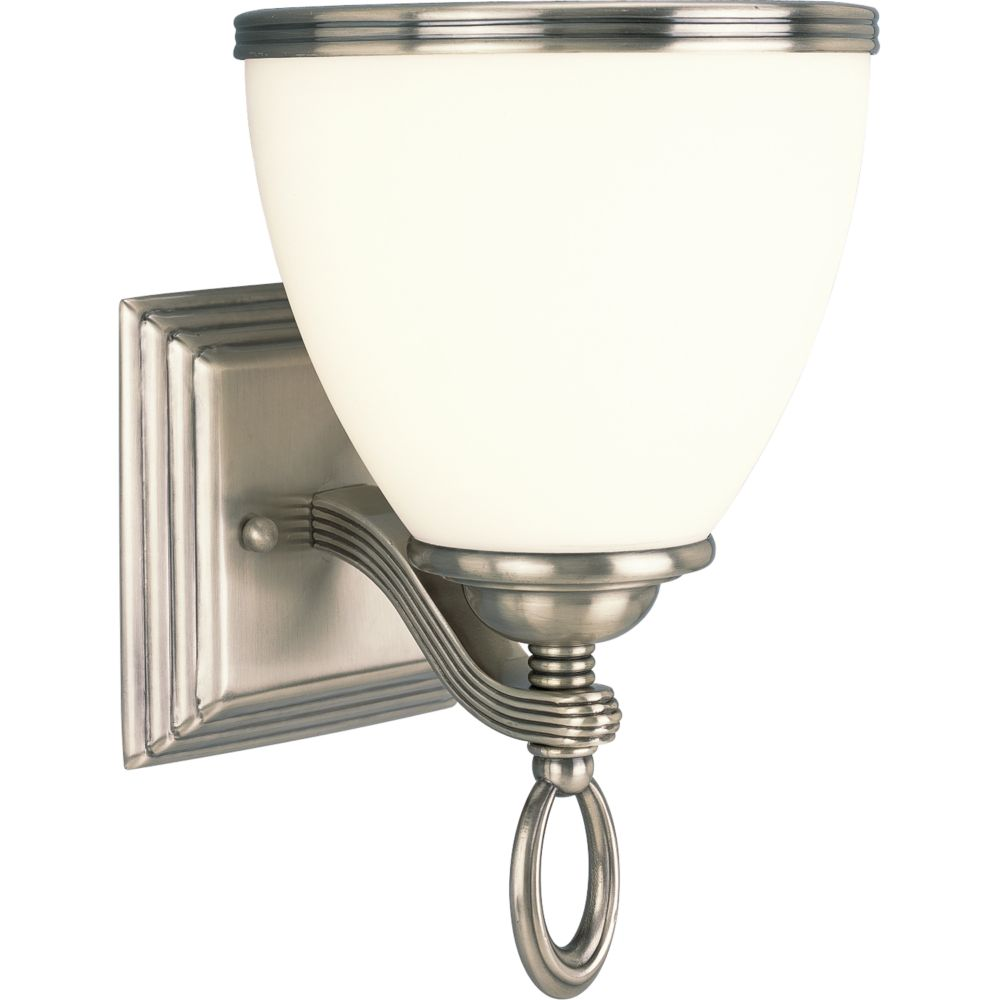 Crescent Heights Collection Classic Silver 1-light Wall Sconce
