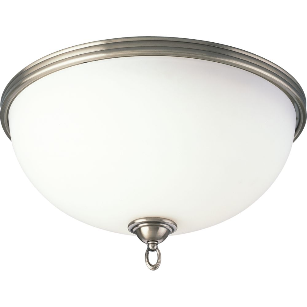 Crescent Heights Collection Classic Silver 3-light Flushmount