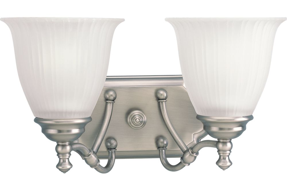 Progress Lighting Archie Collection 2 Light Antique Nickel: Progress Lighting Renovations Collection Antique Nickel 2
