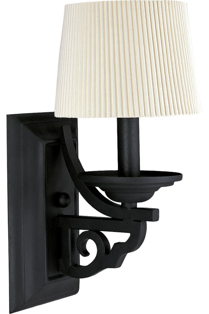 Meeting Street Collection Forged Black 1-light Wall Sconce