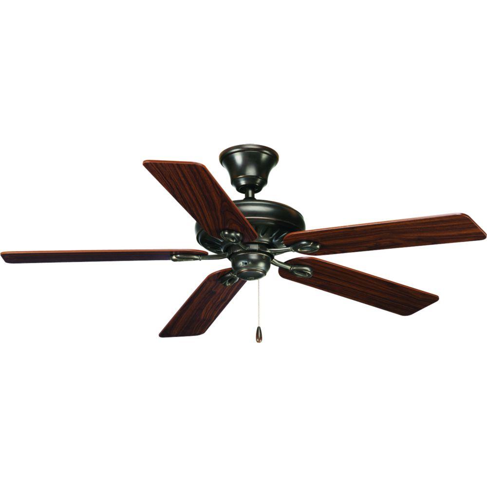 Ventilateur de plafond 52 po, AirPro Signature - fini Bronze à l'Ancienne