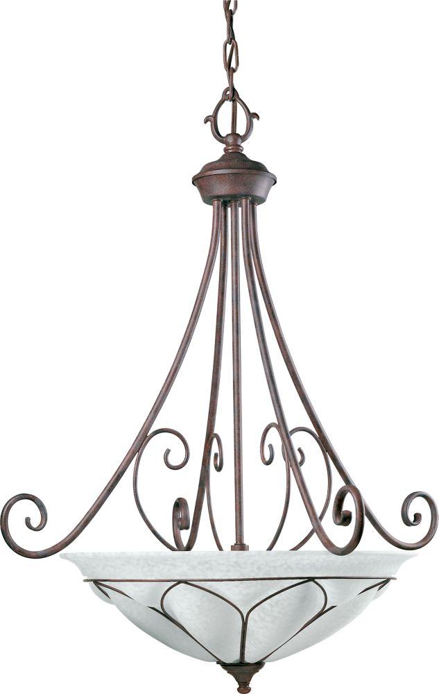 Verona Collection Cobblestone 3-light Chandelier