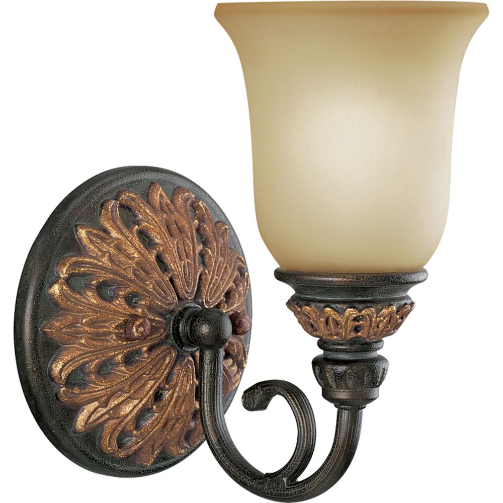 Barcelona Collection Old Iron Crackle 1-light Wall Bracket