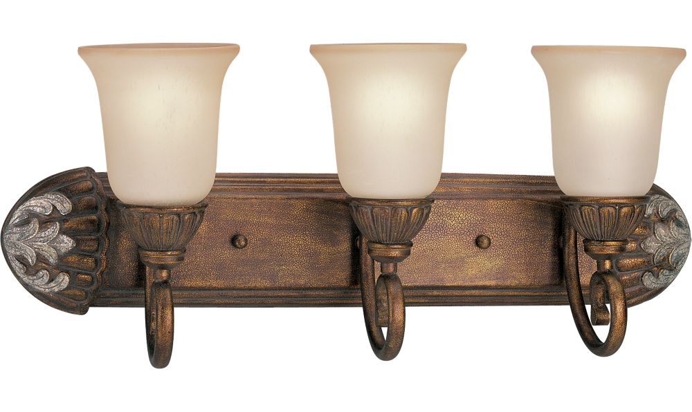 Carmel Collection Tuscany Crackle 3-light Wall Bracket