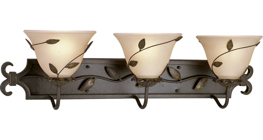 Eden Collection Forged Bronze 3-light Wall Bracket