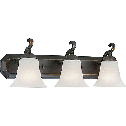 Melbourne Collection Espresso 3-light Wall Bracket