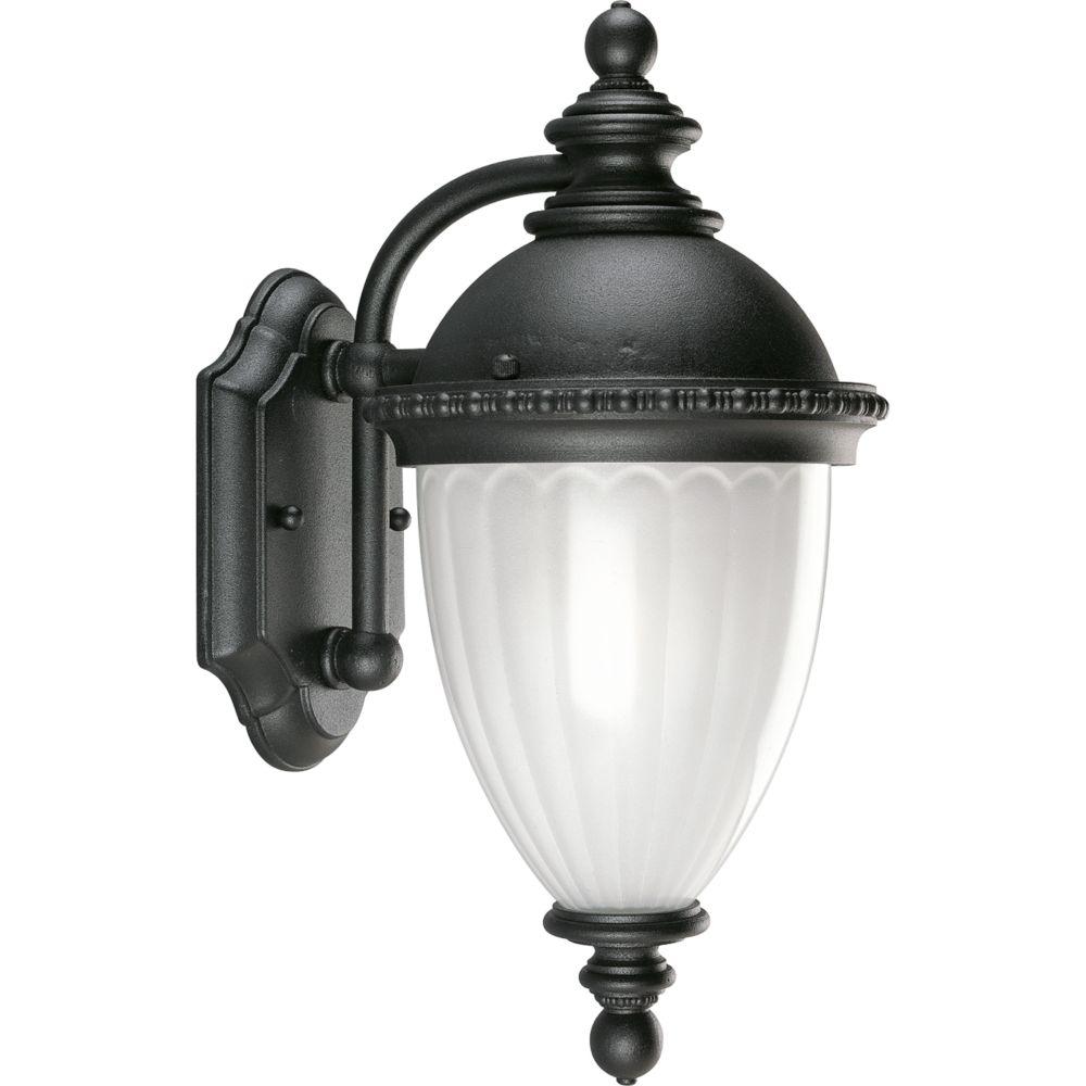 Lanterne murale à 1 Lumière, Collection Chesham - fini Noir Texturé