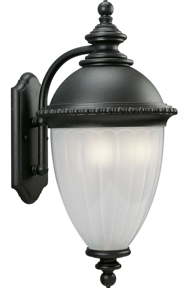 Chesham Collection Textured Black 3-light Wall Lantern
