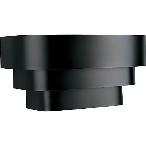 1-Light Wall Sconce in Black