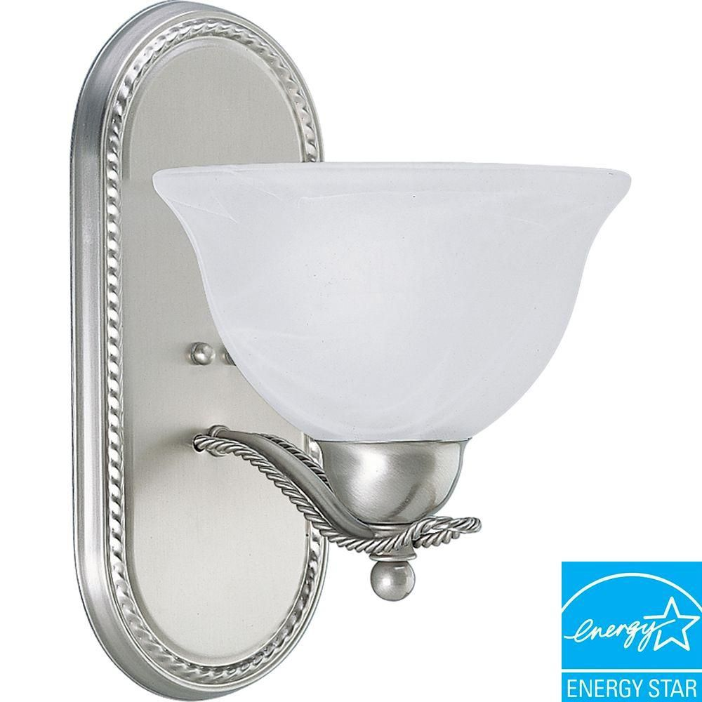 Progress Lighting Avalon Collection Brushed Nickel 1-light Wall Bracket