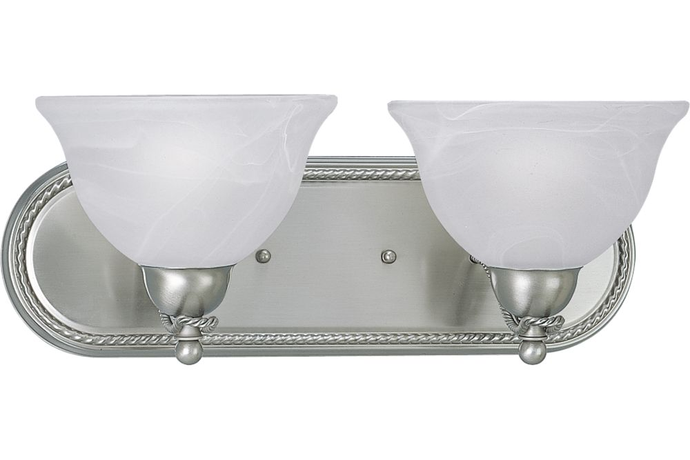 Avalon Collection Brushed Nickel 2-light Wall Bracket