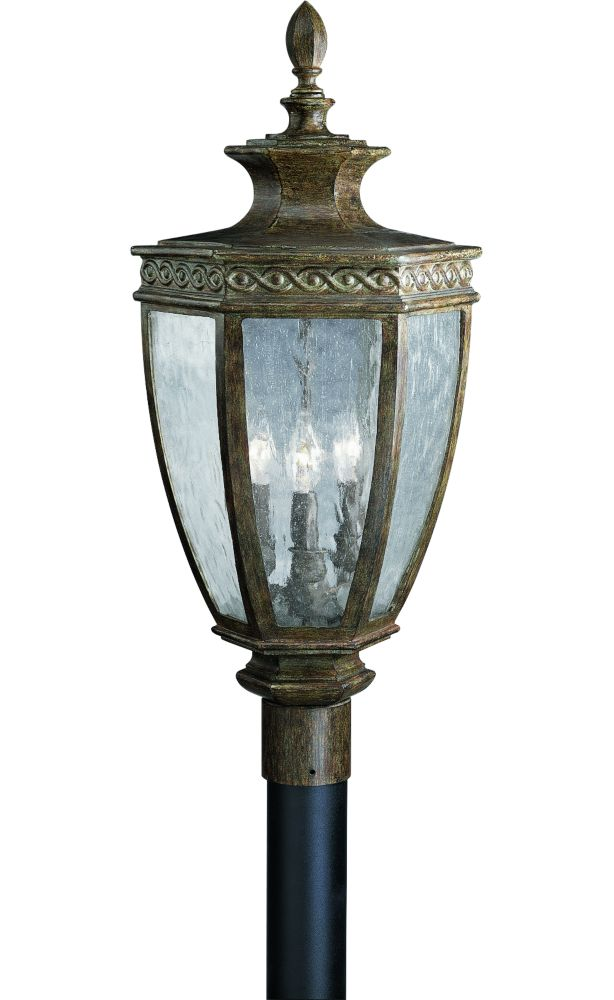 Dartmouth Collection Fieldstone 3-light Post Lantern