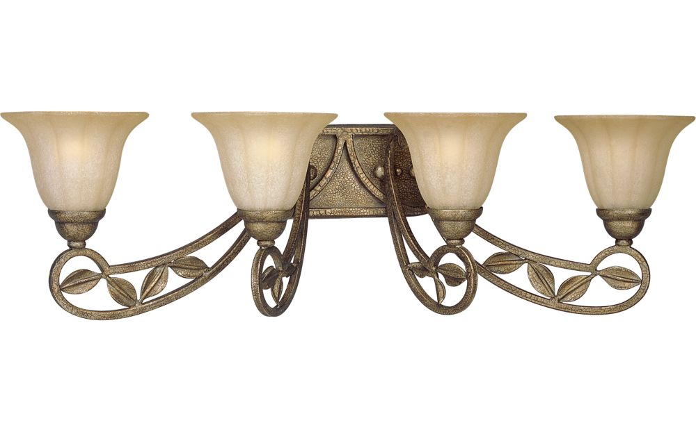 Le Jardin Collection Biscay Crackle 4-light Wall Sconce