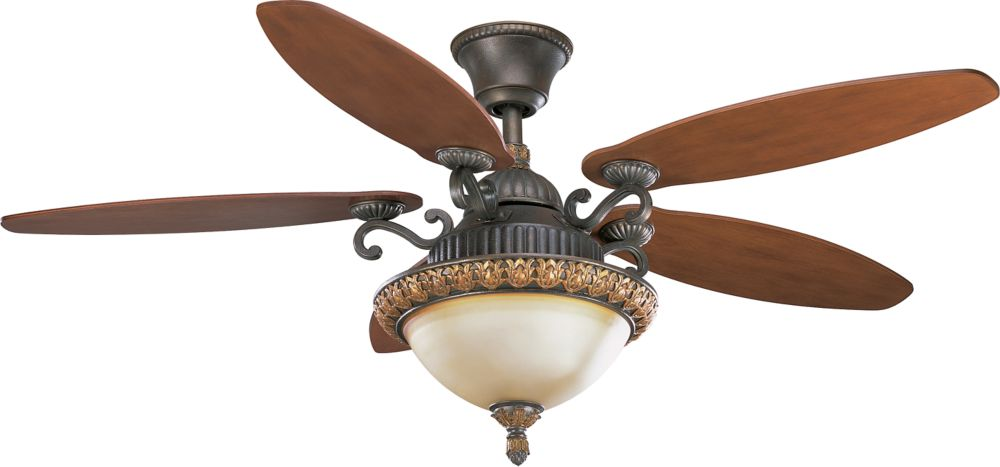54 In. Barcelona Collection Old Iron Crackle Ceiling Fan