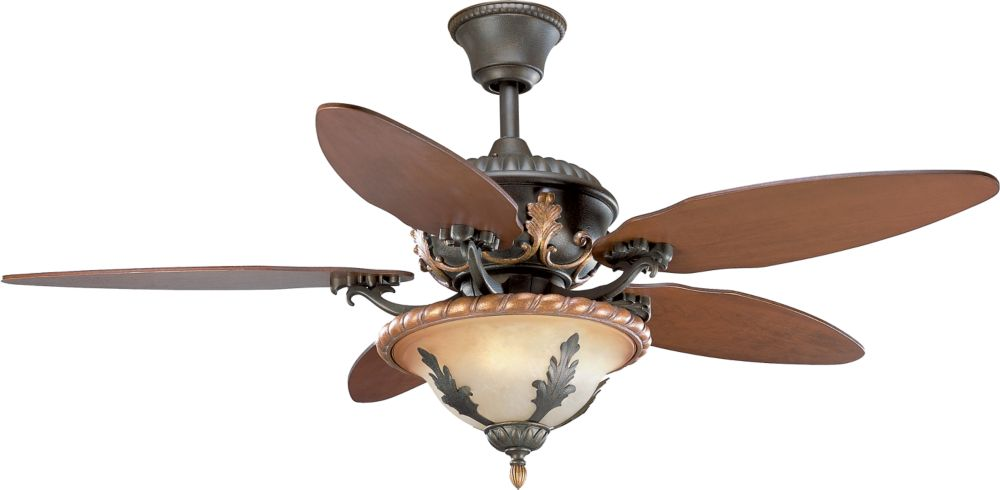 54 In. Provence Collection Old Iron Crackle Ceiling Fan