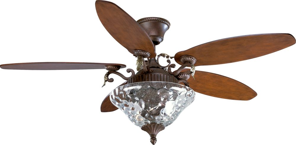Ventilateur de plafond 54 po, Collection Savona - fini Cognac