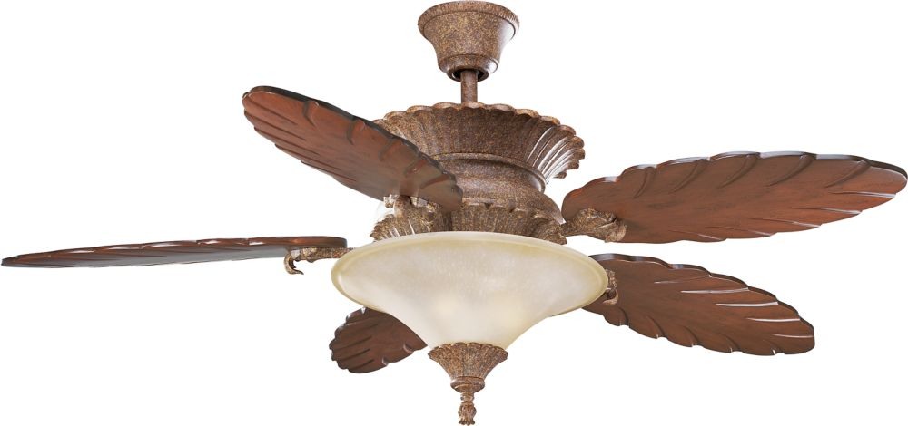 58 In. West Palm Collection Riviera Crackle Ceiling Fan