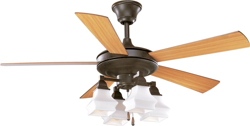 52 In. Bratenahl Collection Forged Bronze Ceiling Fan