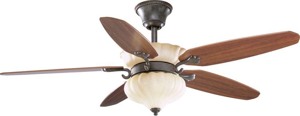 52 In. Le Jardin Collection Espresso Ceiling Fan