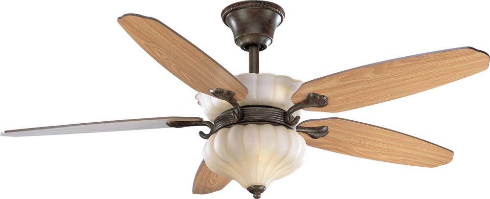 52 In. Maison Orleans Collection Fieldstone Ceiling Fan