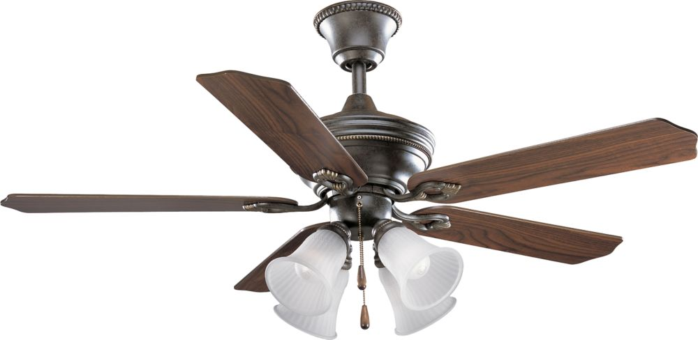 52 In. Bradford Collection Forged Bronze Ceiling Fan