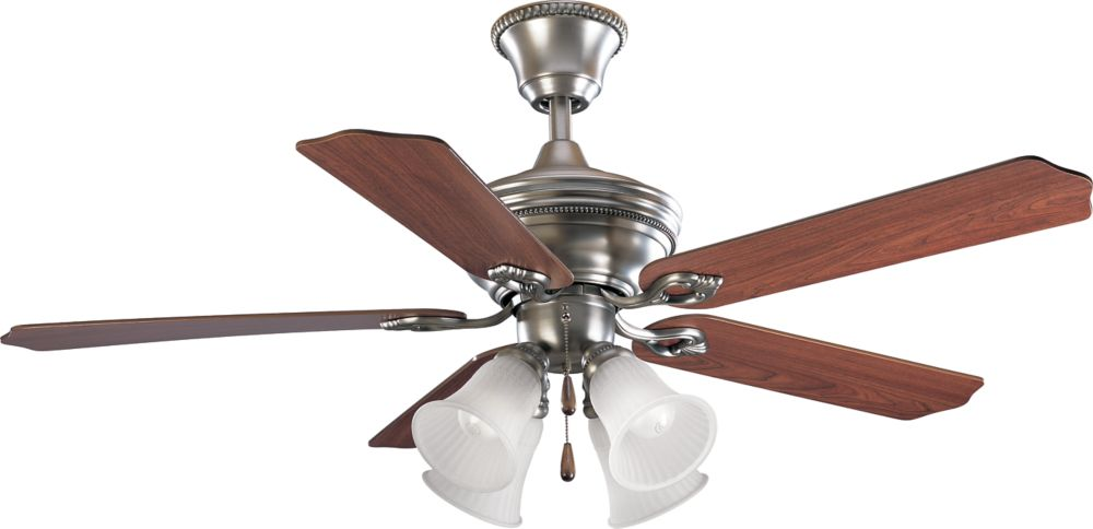 52 In. Bradford Collection Antique Nickel Ceiling Fan