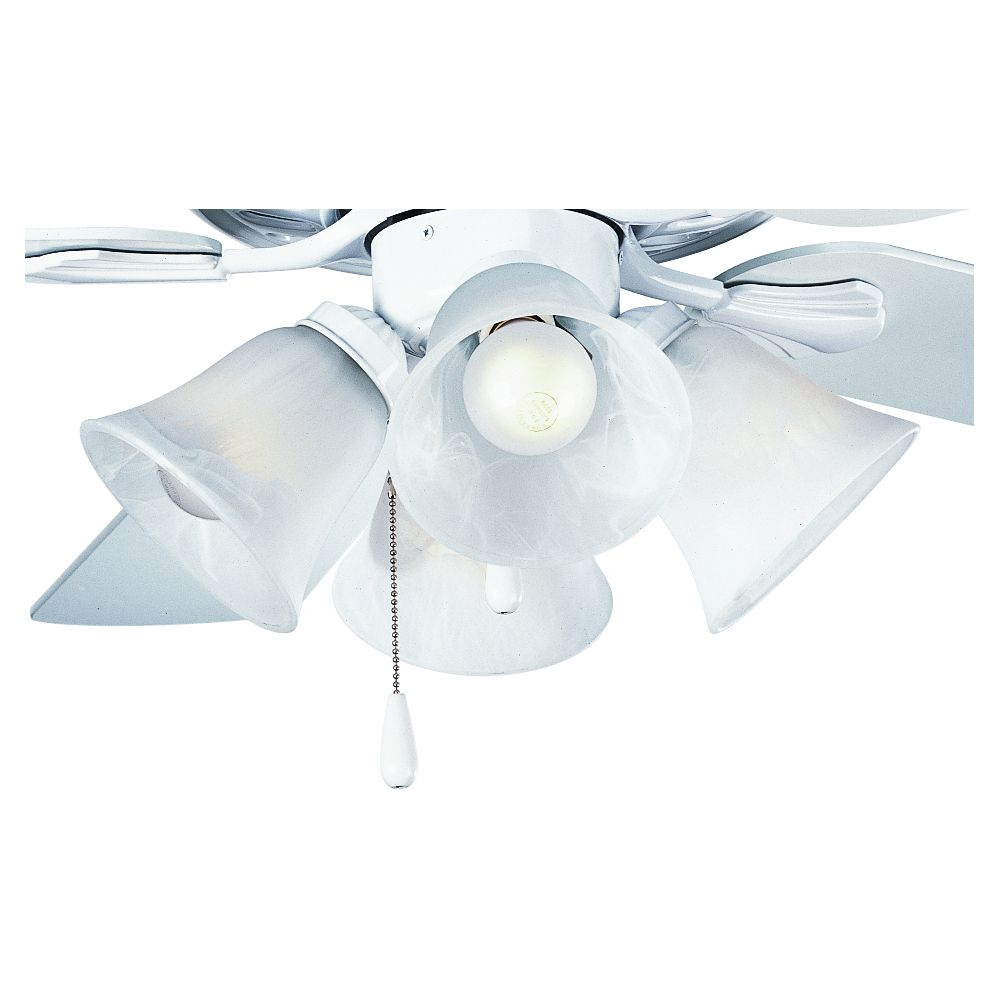 AirPro White 4-light Ceiling Fan Light