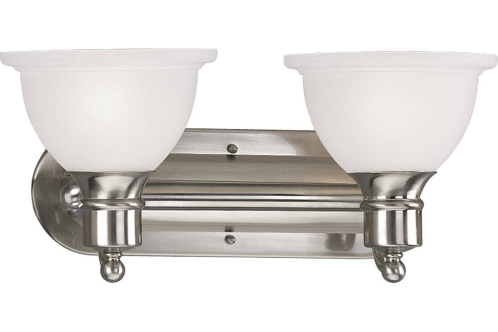 Madison Collection Brushed Nickel 2-light Wall Bracket