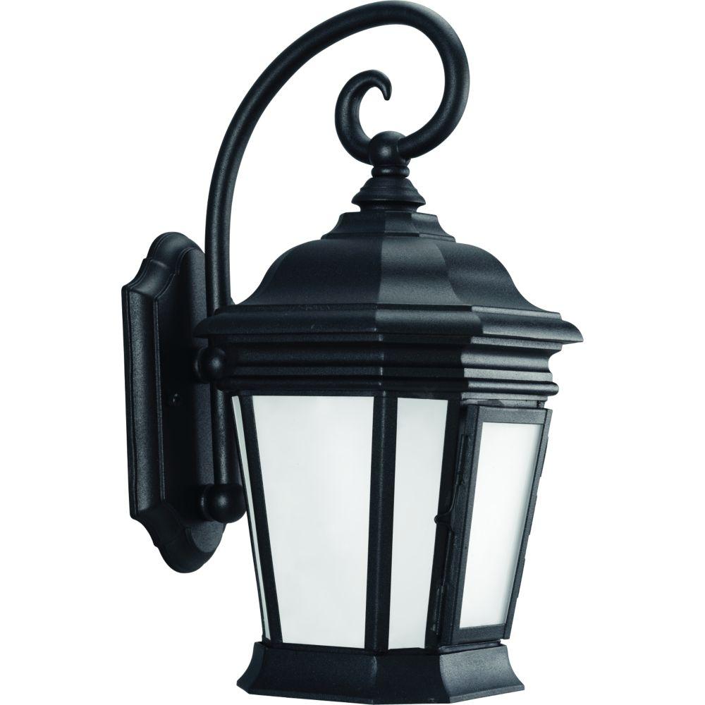 Crawford Collection Textured Black 1-light Wall Lantern
