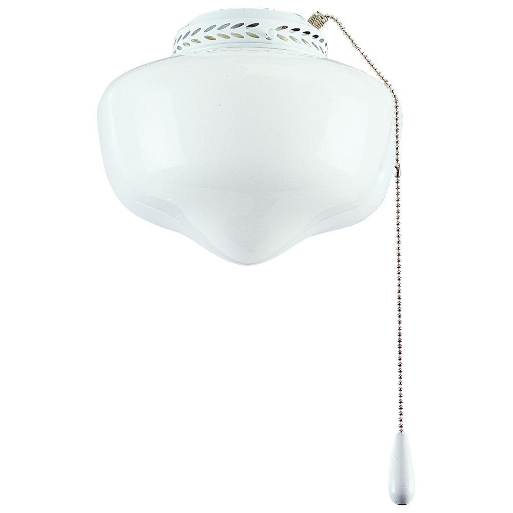Luminaire de ventilateur de plafond à 1 Lumière, Collection AirPro - fini Blanc