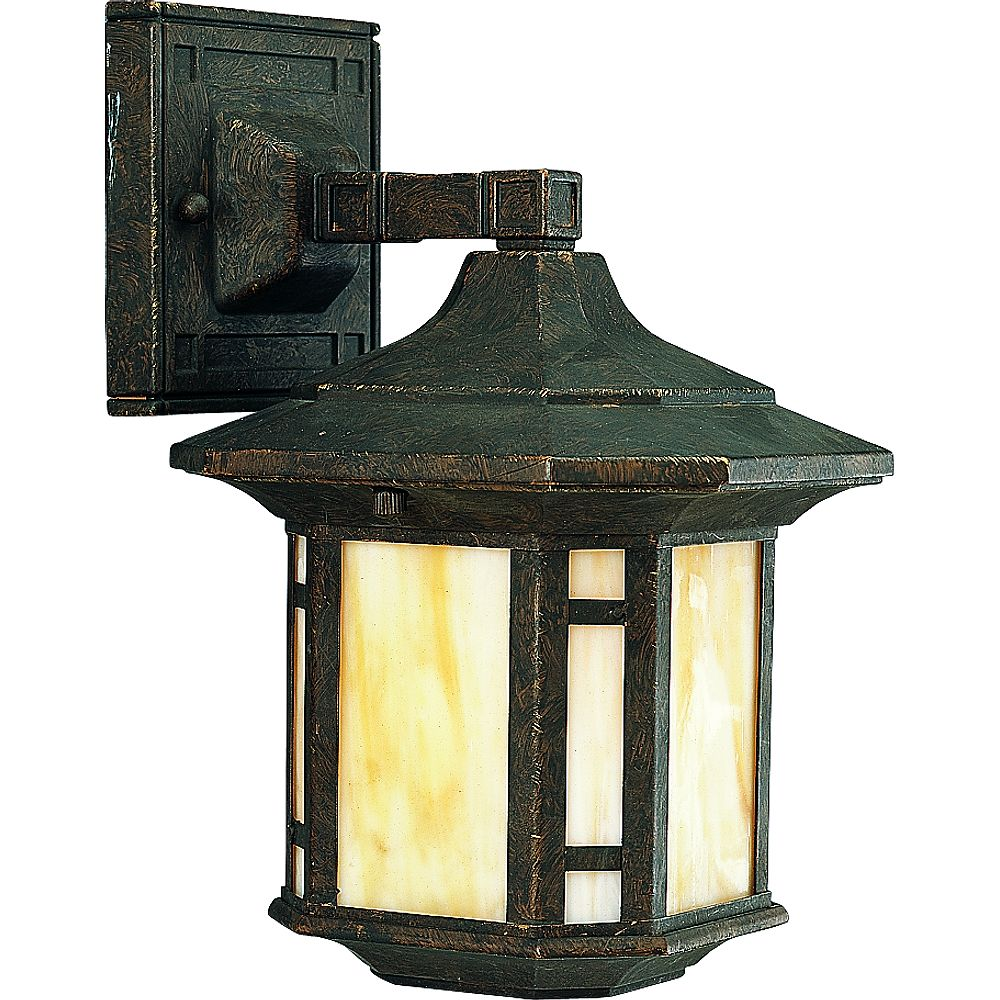 Progress Lighting Arts and Crafts Collection Weathered Bronze 1-light Wall Lantern