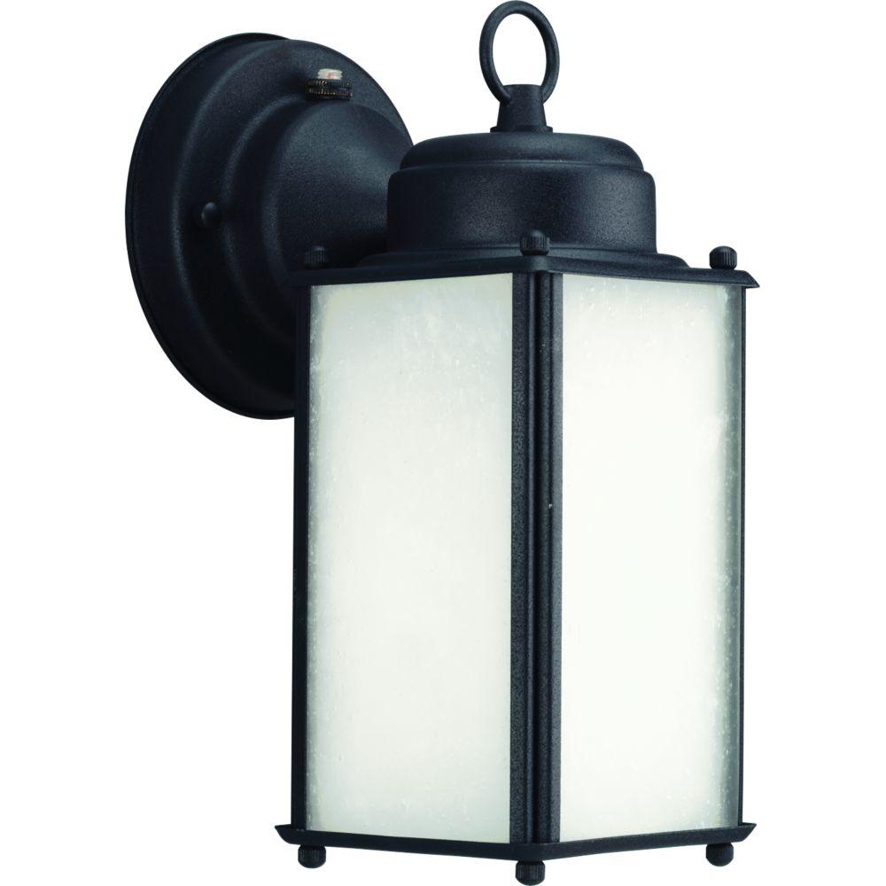 Lanterne murale à 1 Lumière, Collection Carriage Classics - fini Noir