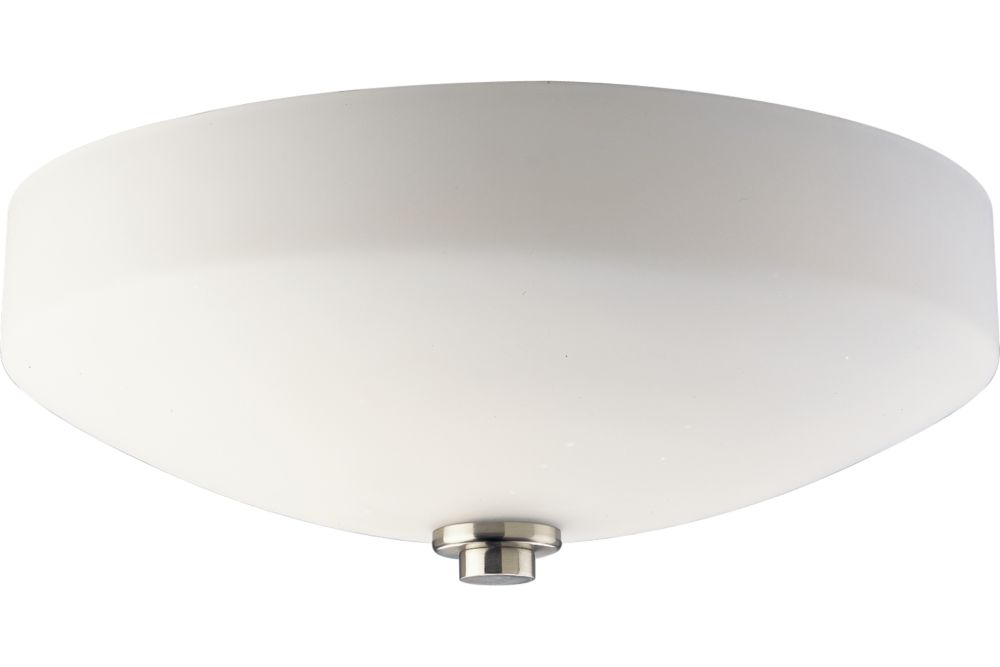 International Collection Brushed Nickel 3-light Flushmount