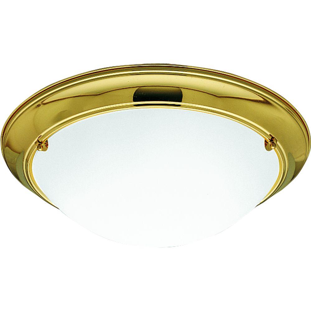 Eclipse Collection Polished Brass 3-light Flushmount