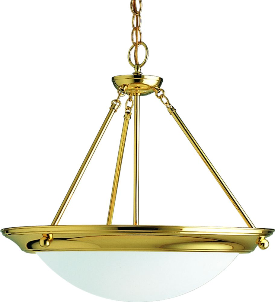 Eclipse Collection Polished Brass 3-light Foyer Pendant