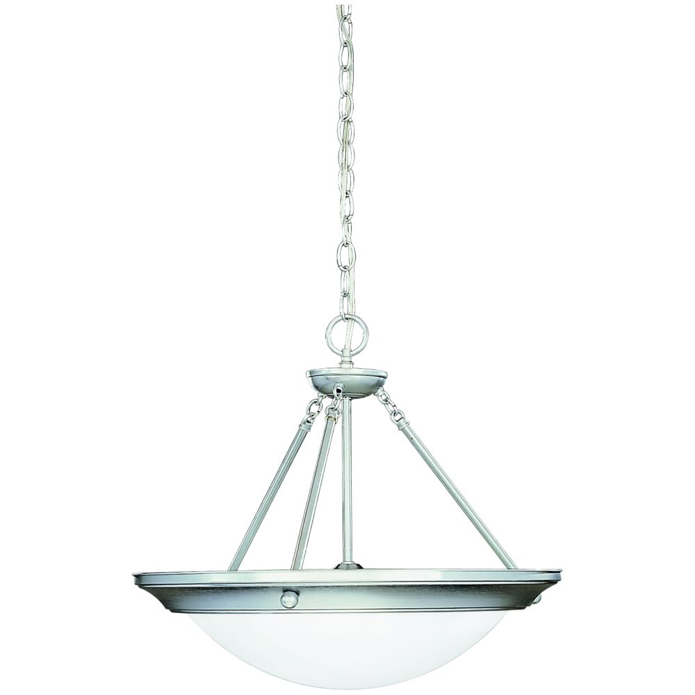 Eclipse Collection Brushed Steel 3-light Foyer Pendant