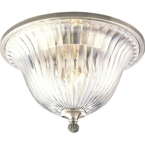 Roxbury Collection Classic Silver 2-light Flushmount