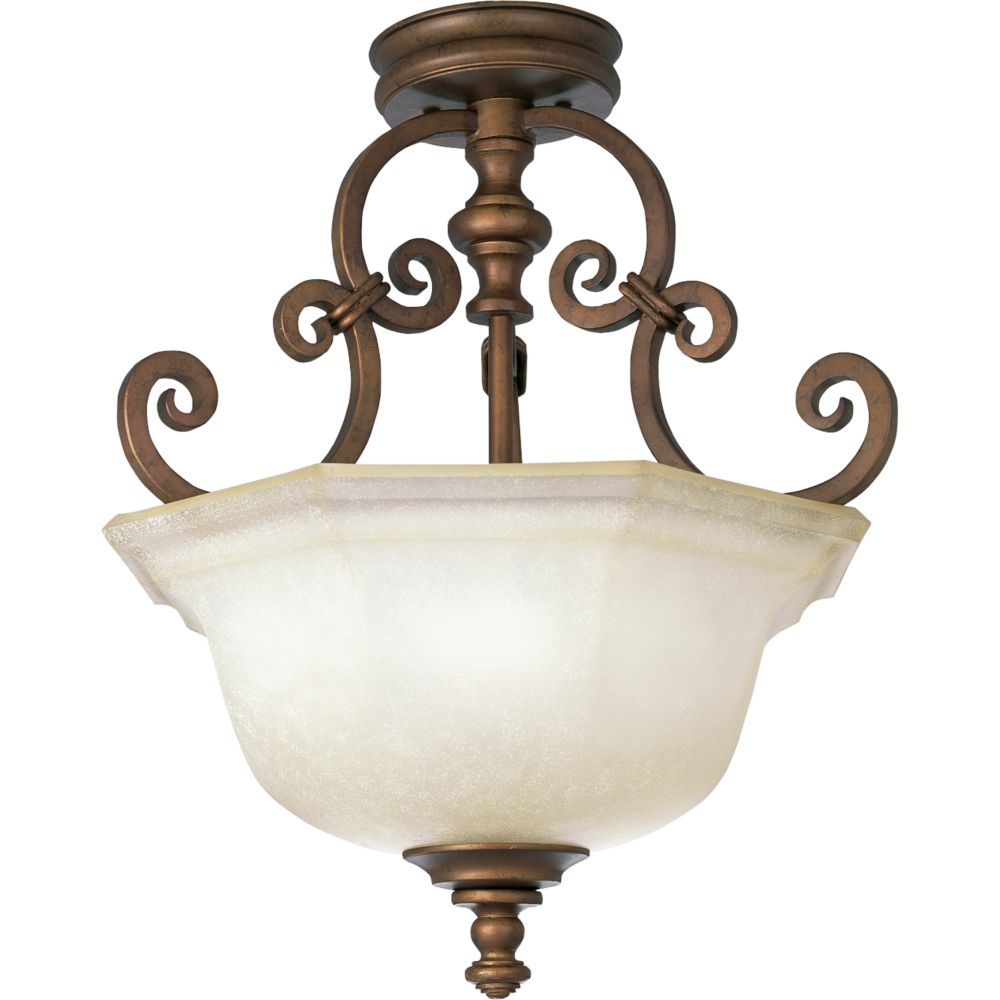 Guildhall Collection Roasted Java 3-light Semi-flushmount