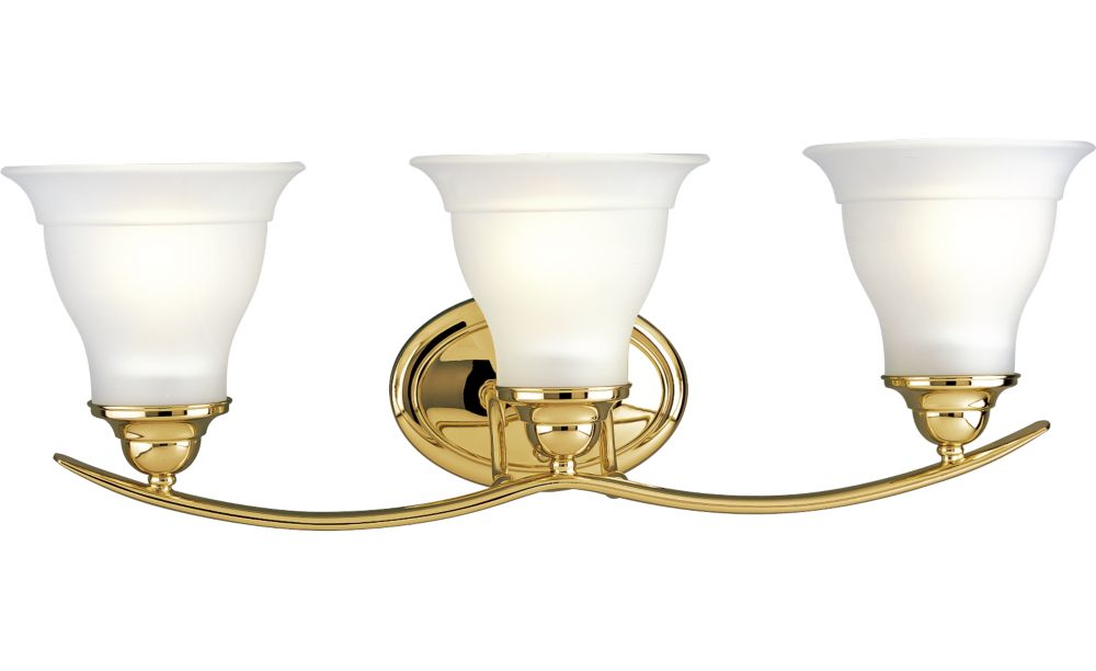Trinity Collection Polished Brass 3-light Wall Bracket