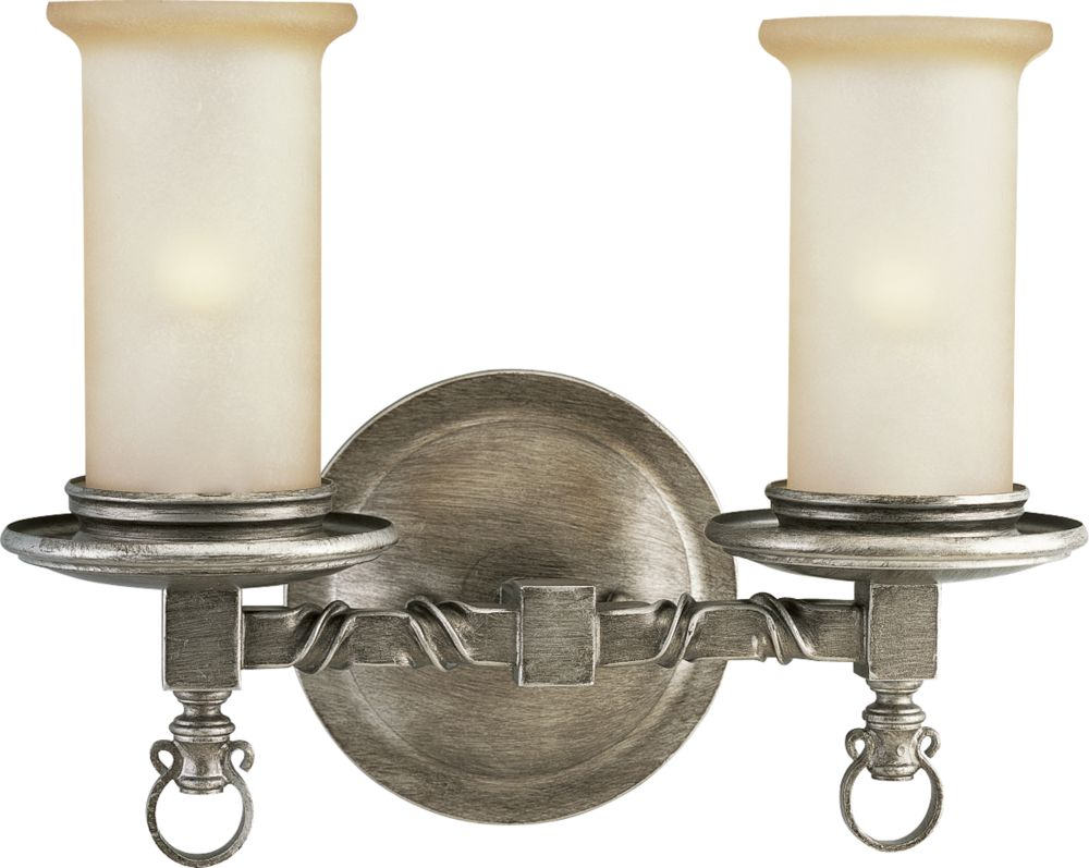 Santiago Collection Antique Pewter 2-light Wall Sconce