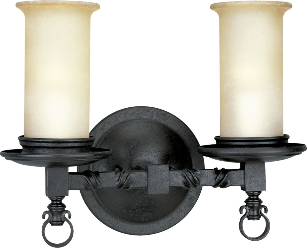 Santiago Collection Forged Black 2-light Wall Sconce