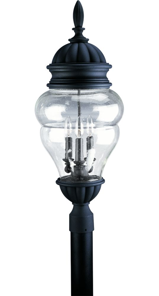 Anderson Collection Textured Black 3-light Post Lantern