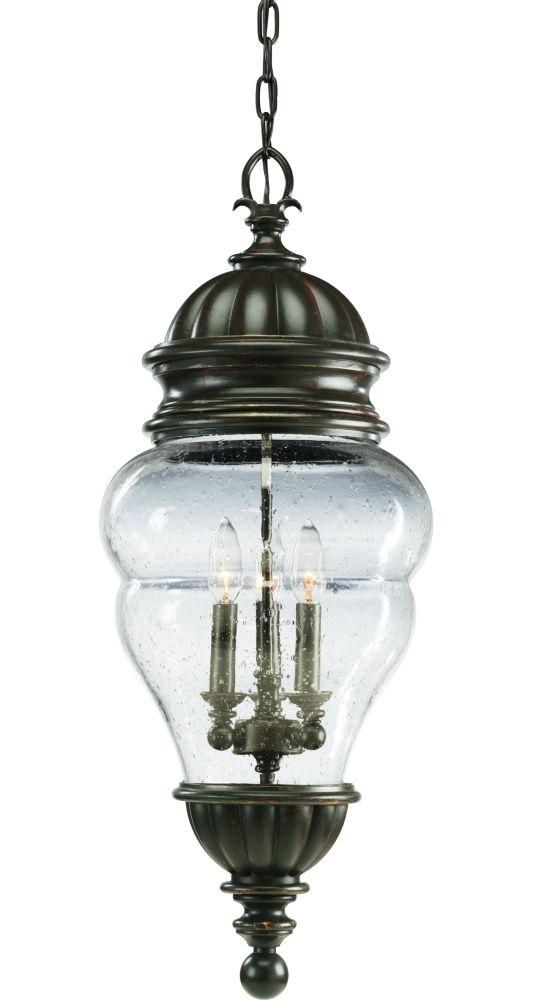 Lanterne suspendue à 3 Lumières, Collection Anderson - fini Bronze à l'Ancienne