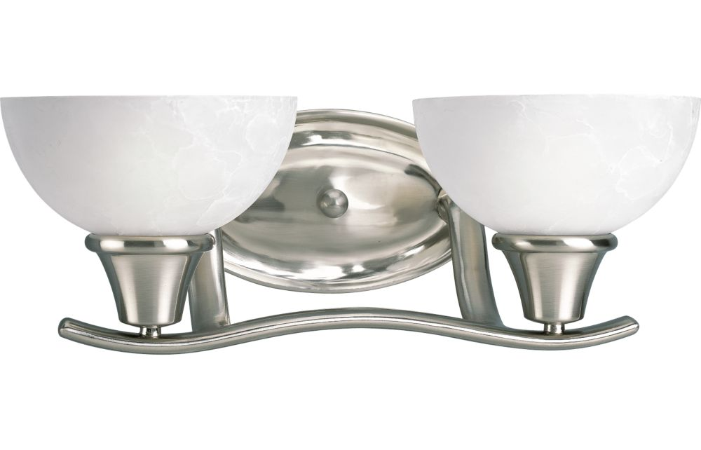 Sentura Collection Brushed Nickel 2-light Wall Sconce